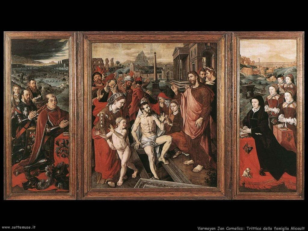 Trittico della Famiglia Micault Vermeyen Jan Cornelisz
