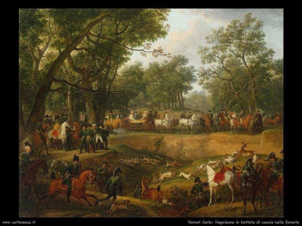 Vernet Carle Napoleone a caccia
