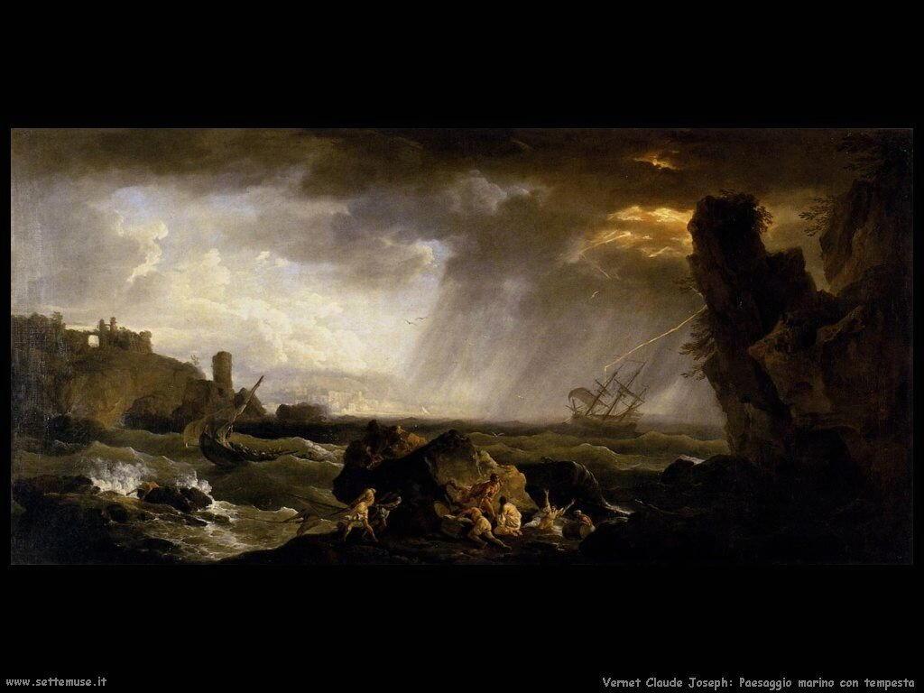 Paesaggio marino in tempesta Vernet Claude Joseph