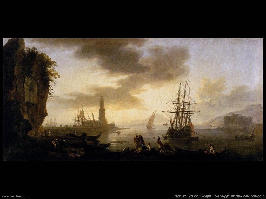 Panorama marino in bonaccia Vernet Claude Joseph