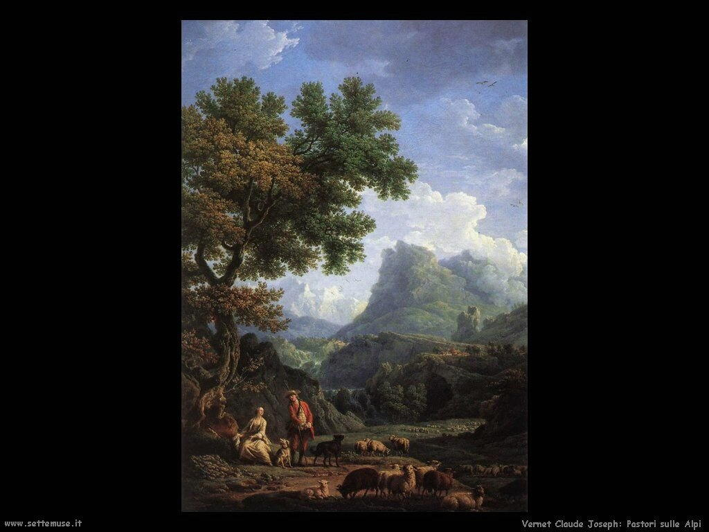 Pastore sulle Alpi Vernet Claude Joseph