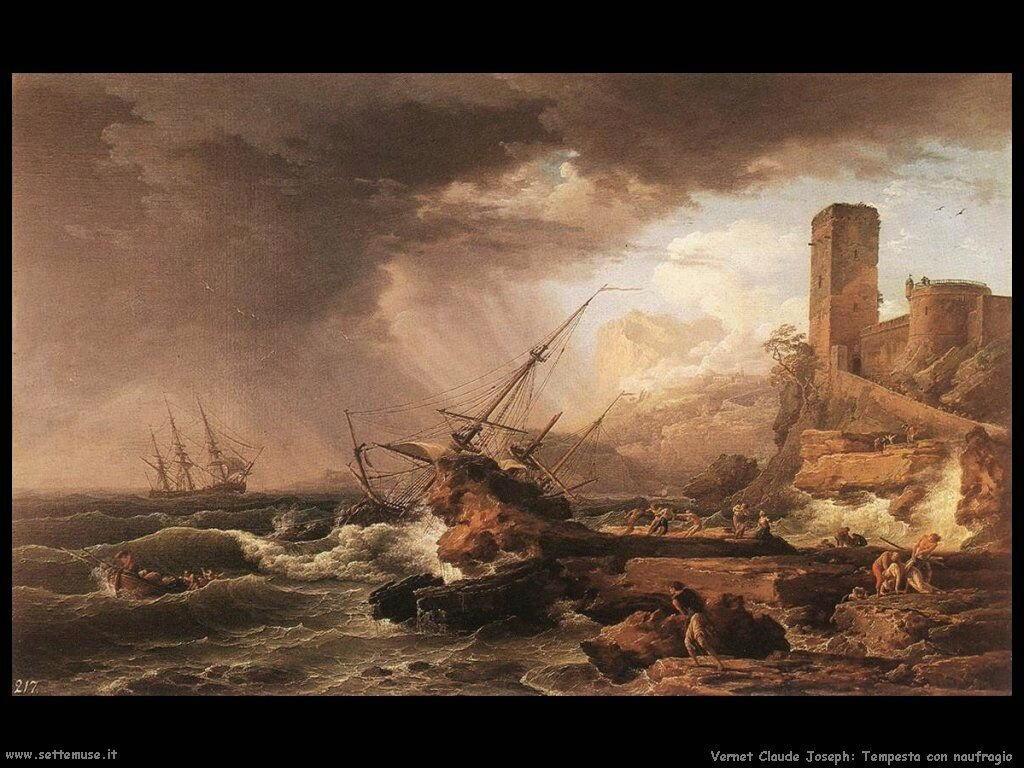 Tempesta e naufragio Vernet Claude Joseph