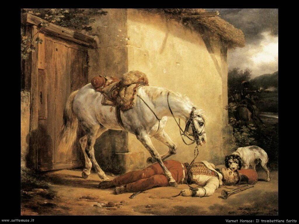 Il trombettiere ferito Vernet Horace