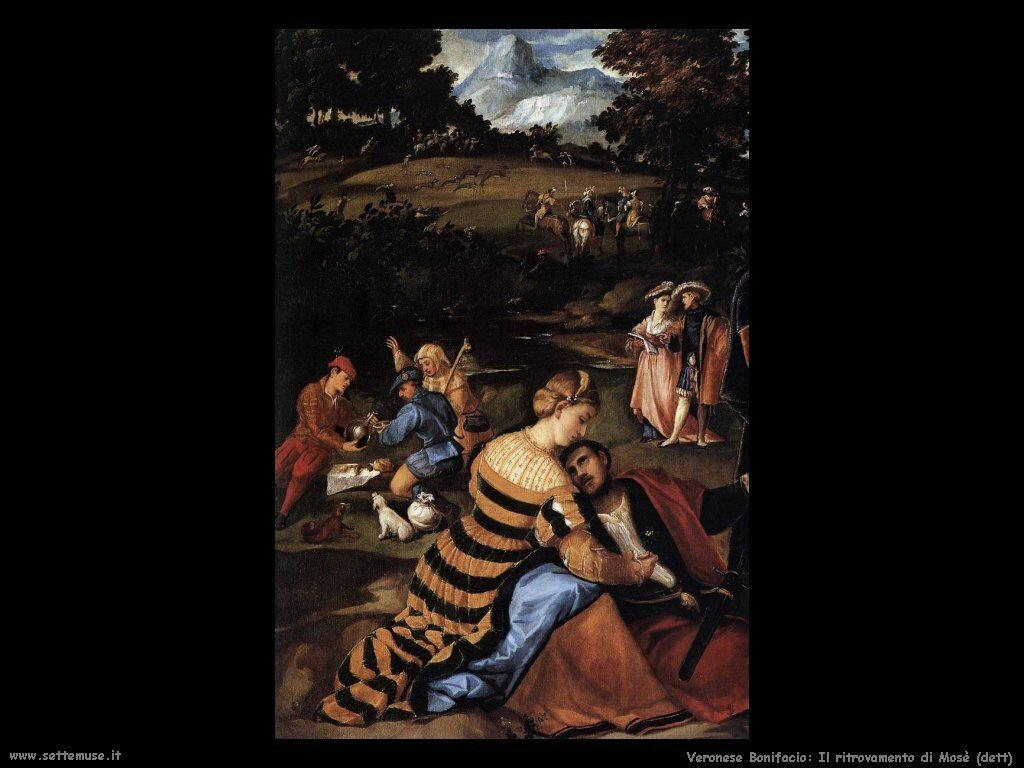 Il ritrovamento di Mosè (dettaglio) Veronese Bonifacio