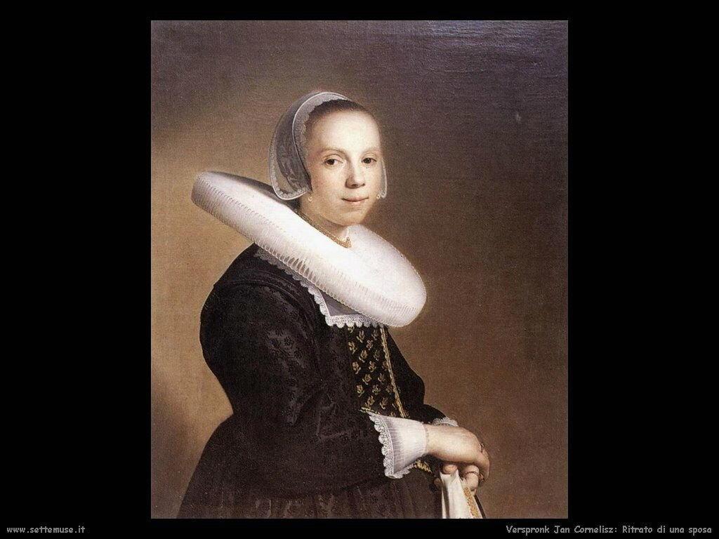 Ritratto di  sposa Verspronck Jan Cornelisz