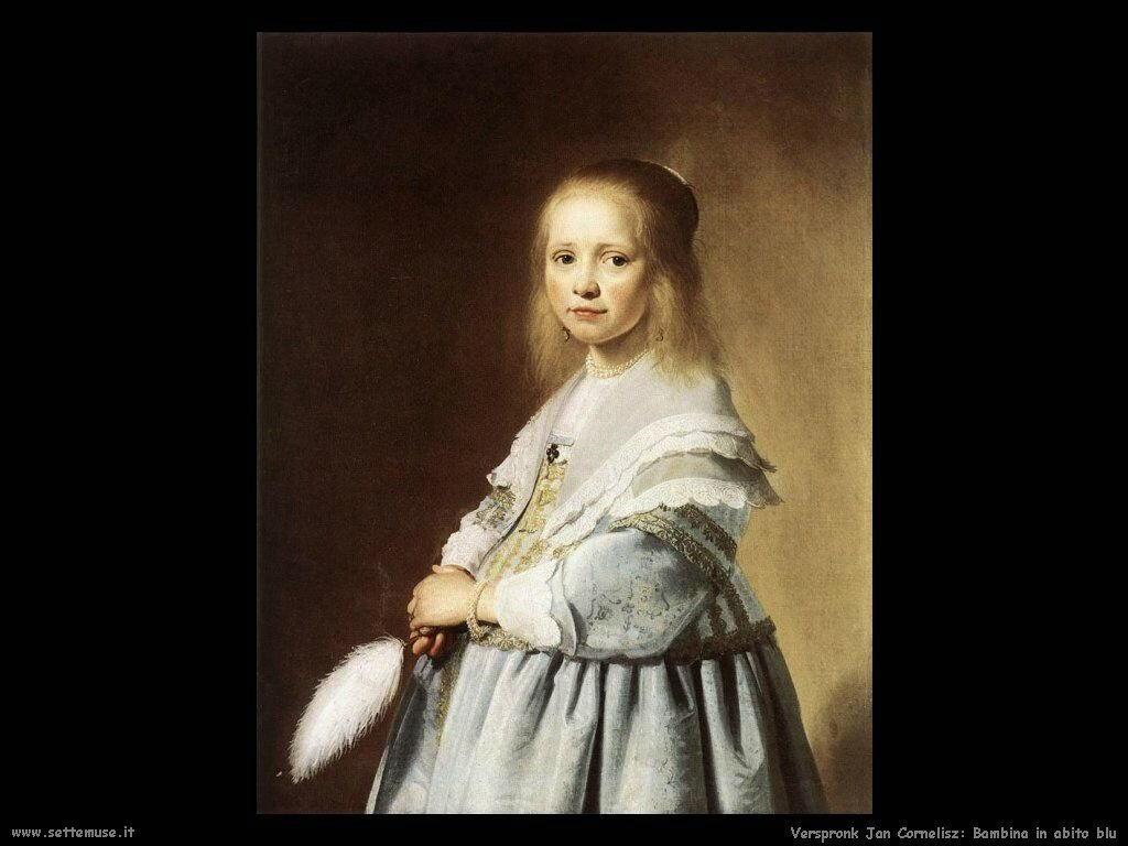 Ragazza in abito blu Verspronck Jan Cornelisz