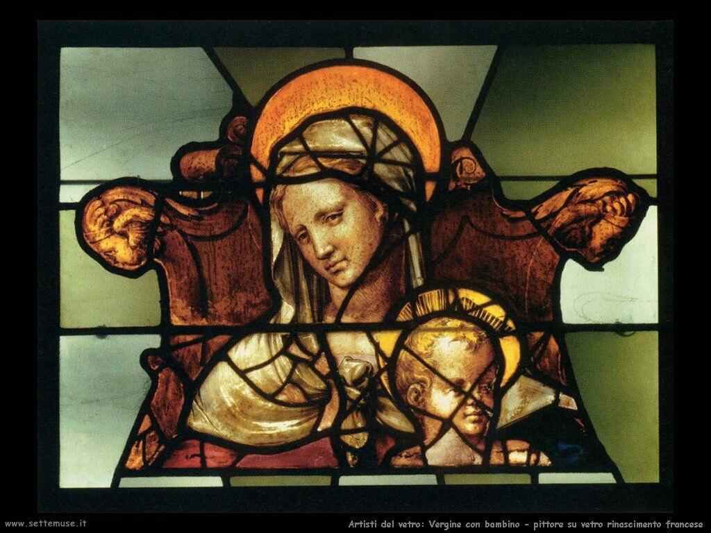 vetro_549_Vergine e bambino