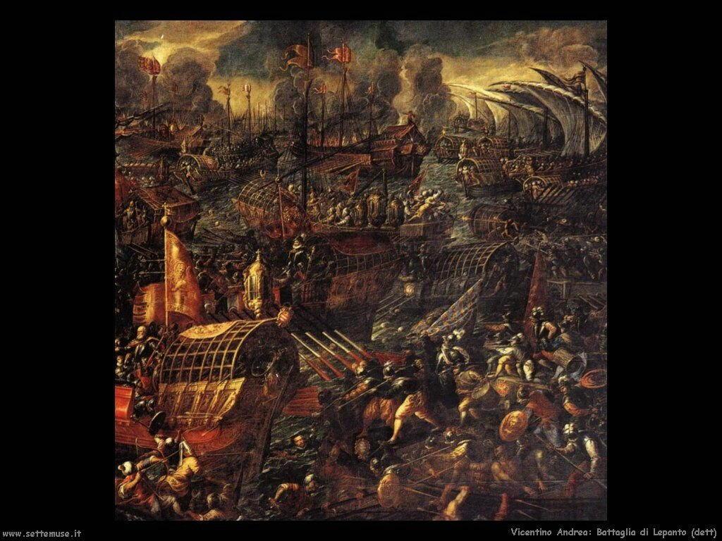 Battaglia di Lepanto (dettaglio) Vicentino Andrea