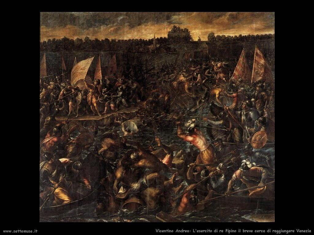 L'esercito di re Pipino cerca di raggiungere Venezia Vicentino Andrea