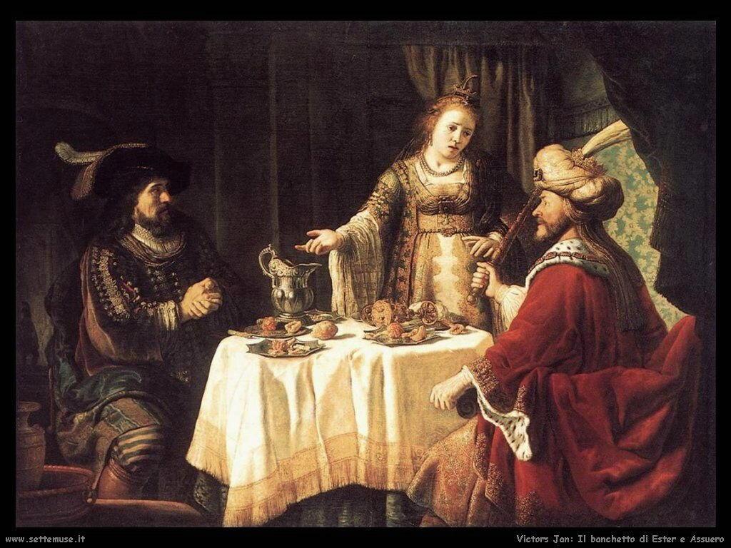 Il banchetto di Ester e Assareto Victors Jan