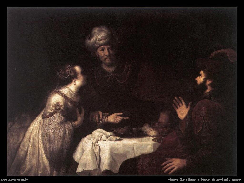 Ester e Haman prima di incontrare Assuero Victors Jan