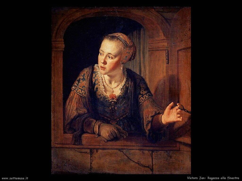 Victors jan pittore biografia foto opere - Ragazza alla finestra ...