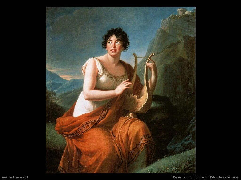 Ritratto di signora Vigee Lebrun Elisabeth