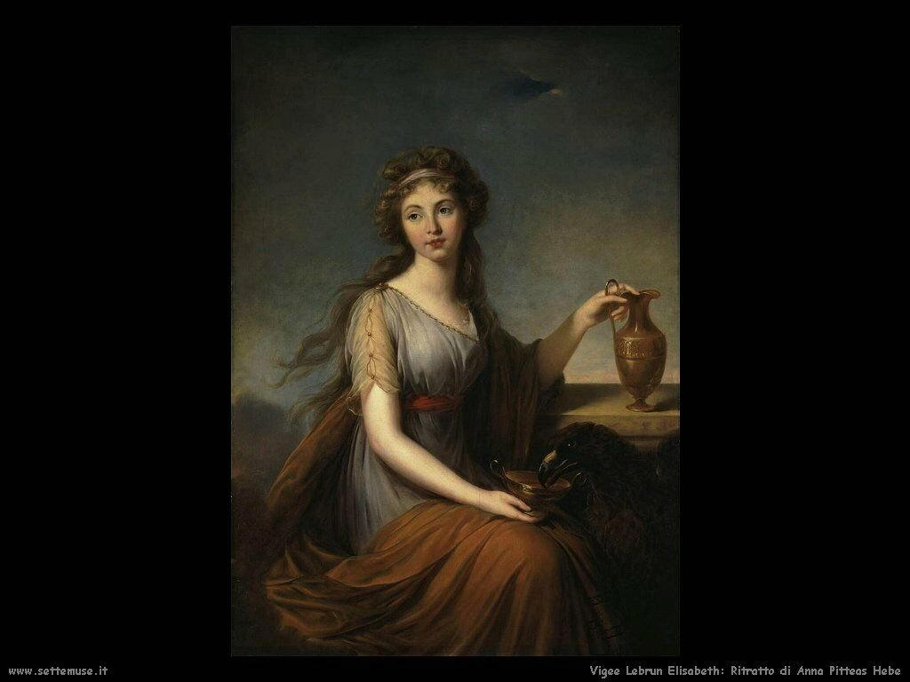 Ritratto di Anna Pitteas come Hebe Vigee Lebrun Elisabeth