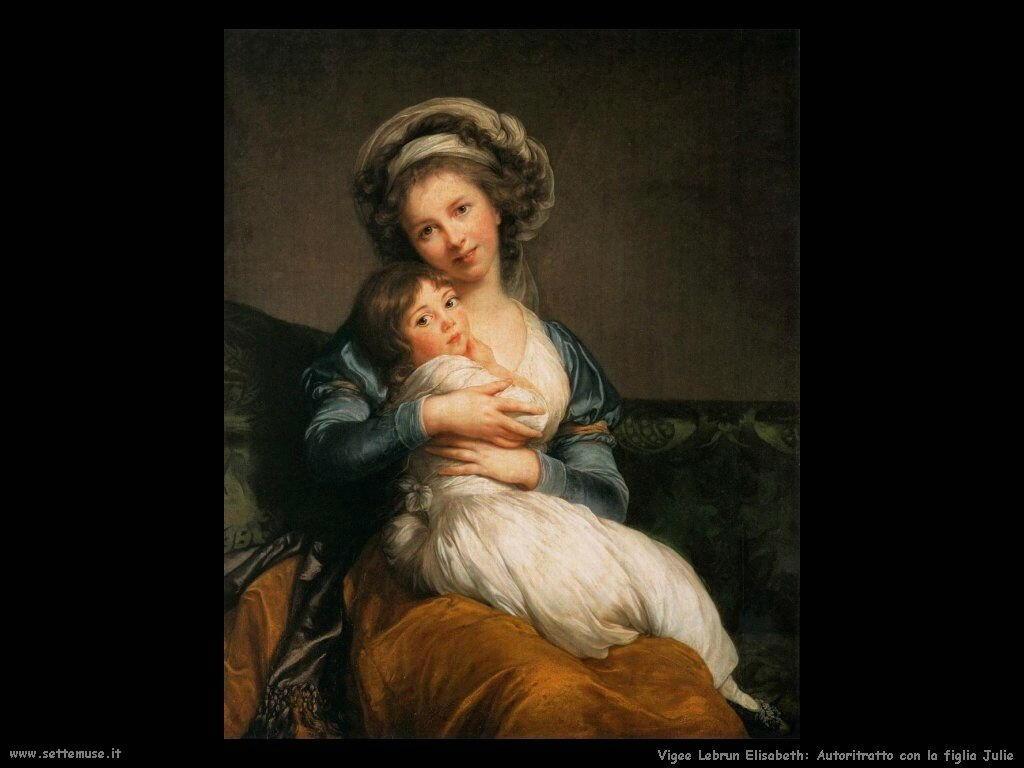Autoritratto con sua figlia Julie Vigee Lebrun Elisabeth