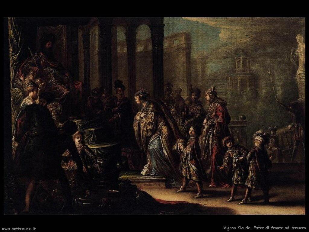 Ester davanti a Ahasuero Vignon Claude