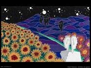 Notturno con girasoli Visalli Francesco