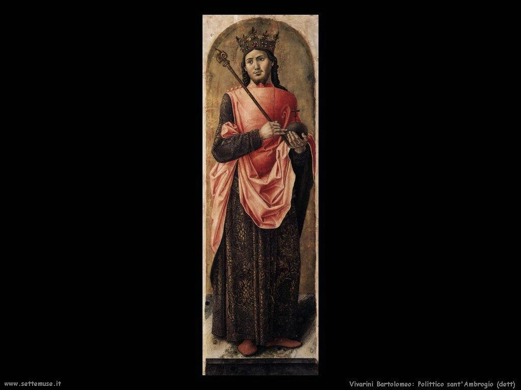 Polittico di Sant'Ambrogio (dettaglio) Vivarini Bartolomeo