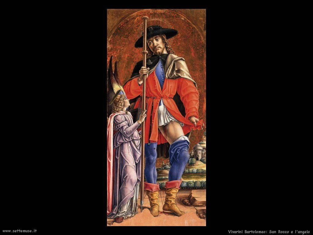 San Rocco e l'Angelo Vivarini Bartolomeo