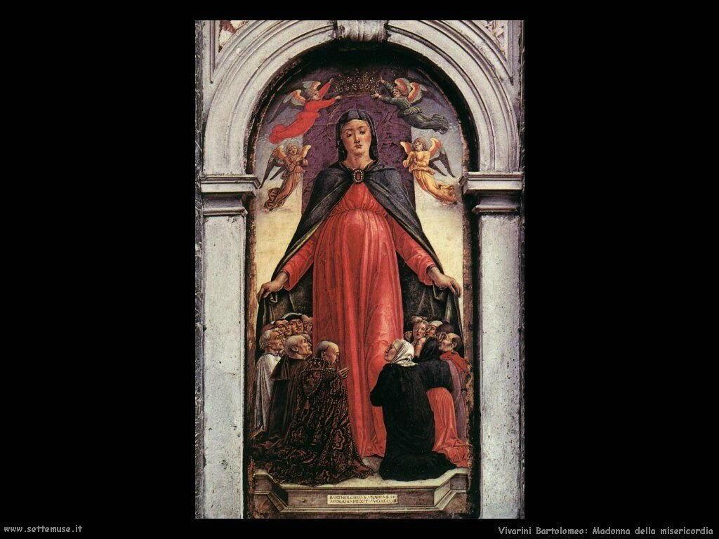 Trittico Madonna della Misericordia ( Particolare) Vivarini Bartolomeo