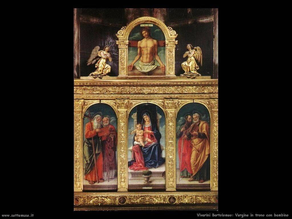 Vergine in trono con Bambino Vivarini Bartolomeo
