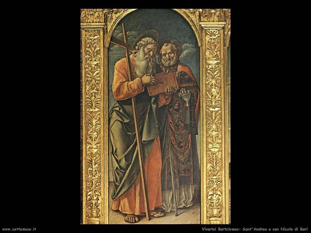 Polittico di Conversano (Particolare Sant'Andrea e Nicola di Bari) Vivarini Bartolomeo