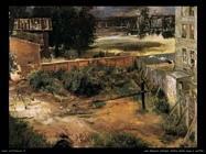 Retro della casa e giardino Von Menzel Adolph