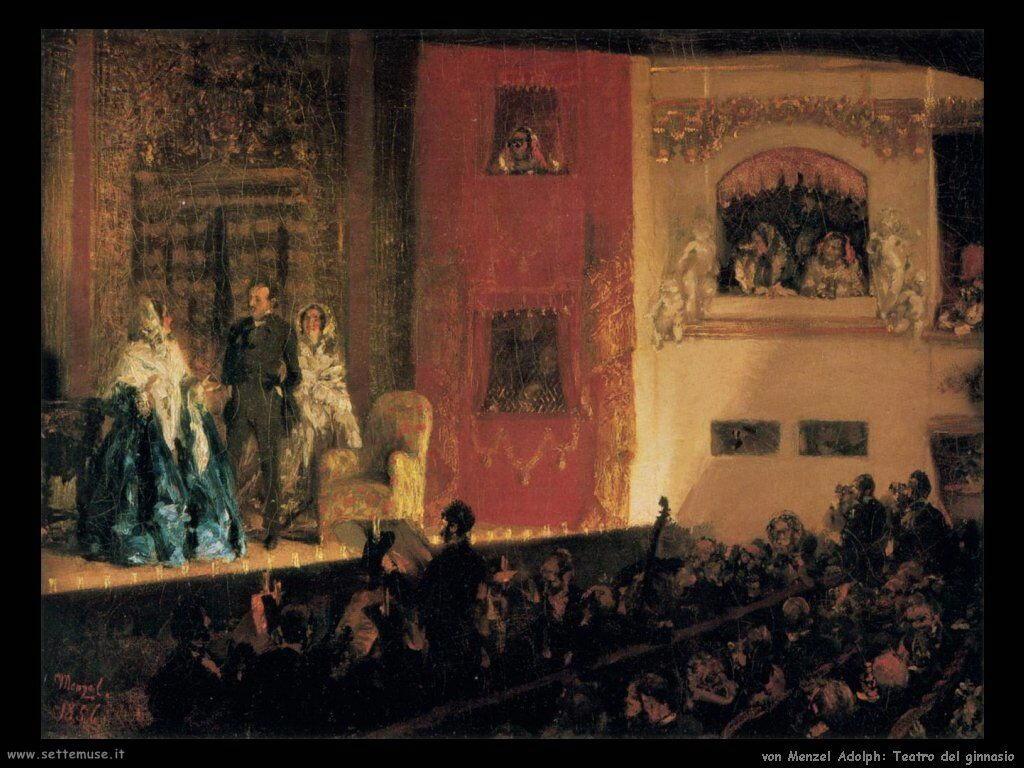 Teatro del Ginnasio Von Menzel Adolph