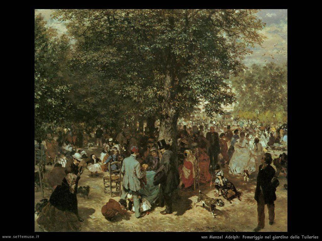 Pomeriggio nei giardini delle Tuileries Von Menzel Adolph