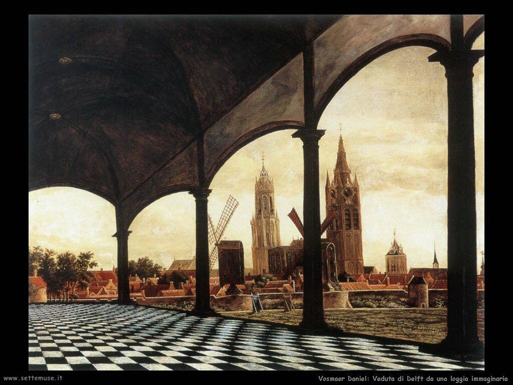 vosmaer daniel 502 a view of delft through an imaginary loggia