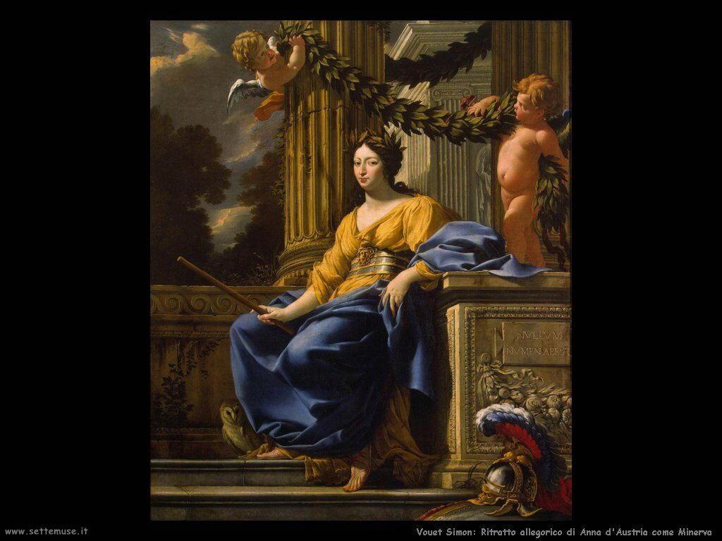 Ritratto allegorico di Anna d'Austria come Minerva Vouet Simon