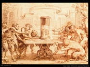 Satiri ammirano l'anamorfo Vouet Simon
