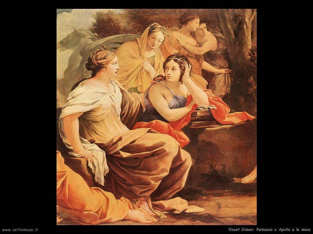 Parnassus o Apollo e le Muse (dettaglio) Vouet Simon