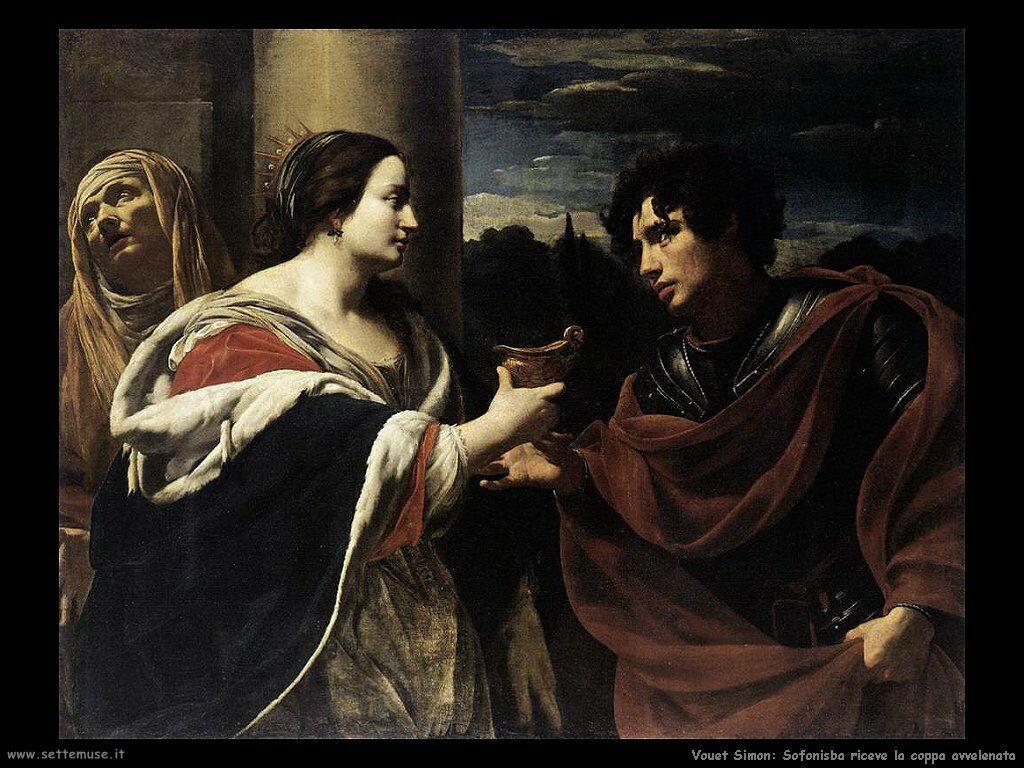 Sofonisba riceve la coppa di veleno Vouet Simon