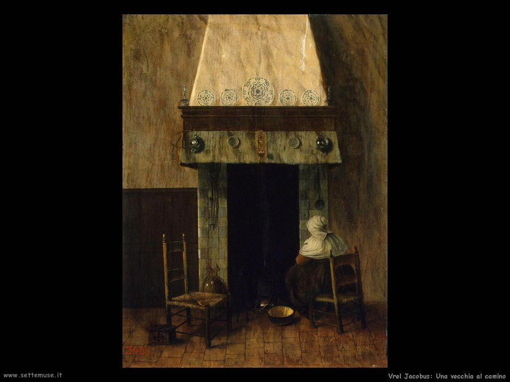 vrel jacobus 501 an old woman by a fireplace