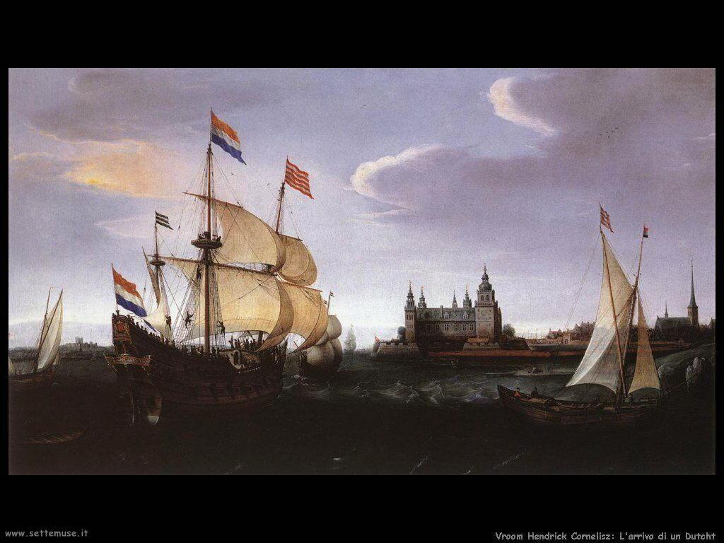 Arrivo di un Vascello olandese Vroom Hendrick Cornelisz