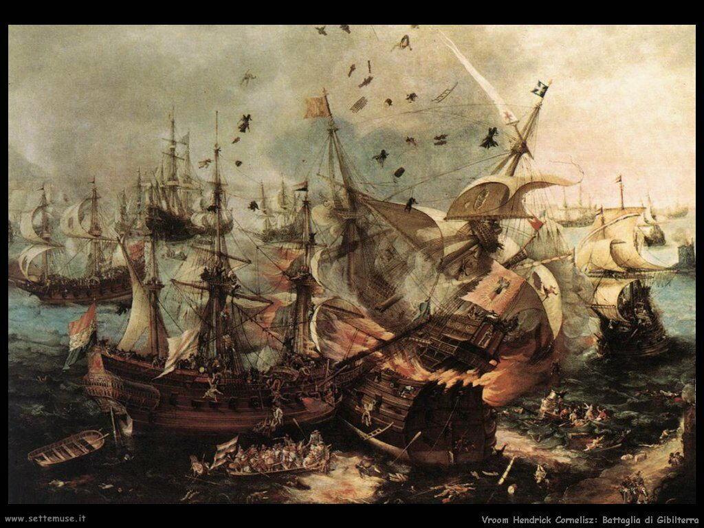 Battaglia di Gibilterra Vroom Hendrick Cornelisz