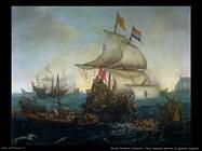 Navi olandesi speronano galeone spagnolo Vroom Hendrick Cornelisz