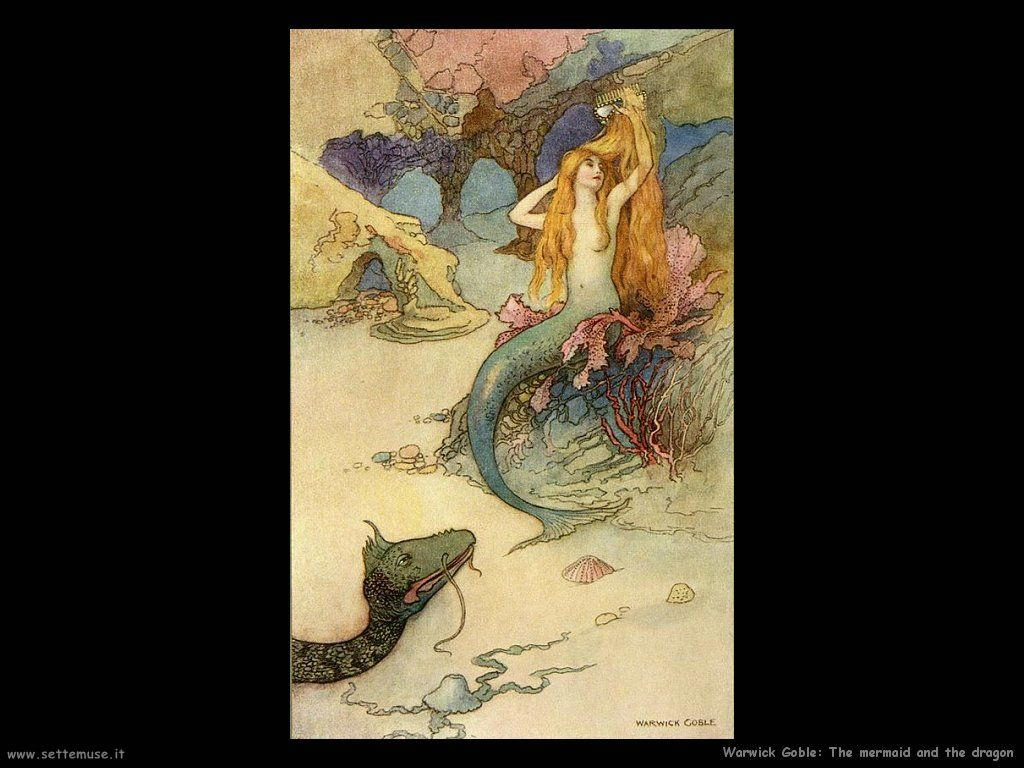 Warwick Globe illustratore The mermaid and the dragon