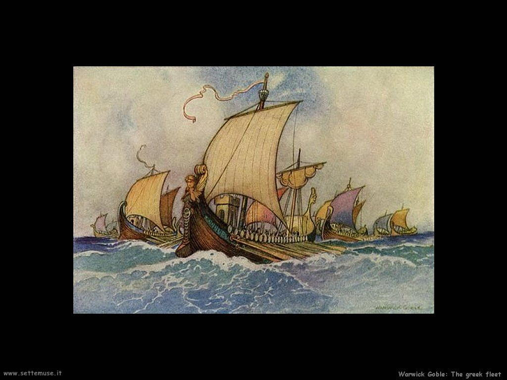 Warwick Globe illustratore disegnatore The greek fleet