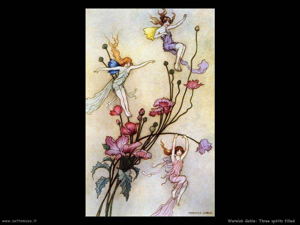 Warwick Globe Fate folletti immagini per bambini Three spirits filled