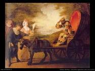 Arlecchino imperatore sulla luna (1707) Watteau Jean Antoine