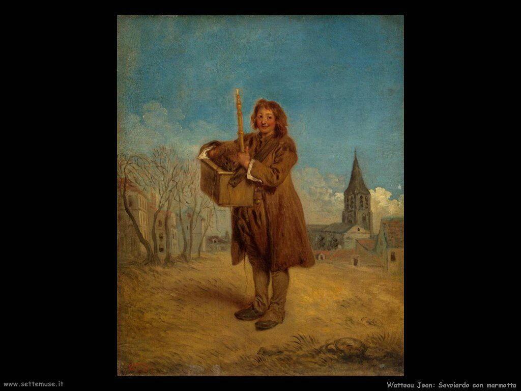 Savoiardo con una marmotta Watteau Jean Antoine