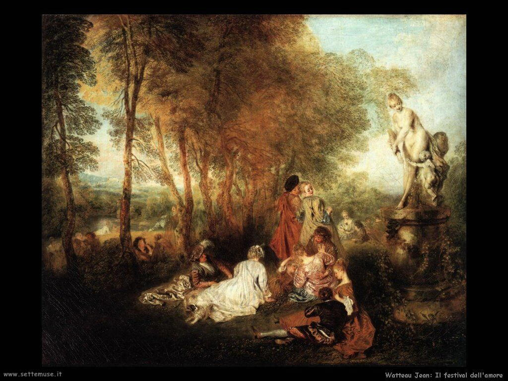 Festa d'Amore Watteau Jean Antoine