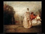 Due cugine Watteau Jean Antoine
