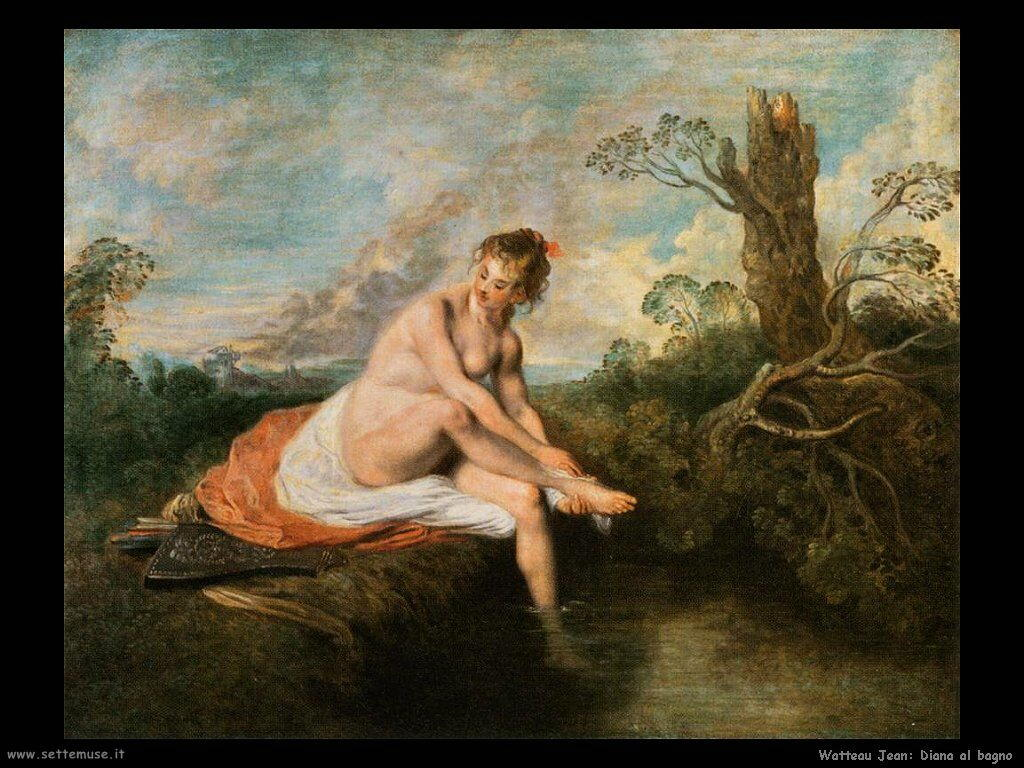 Diana al Bagno Watteau Jean Antoine
