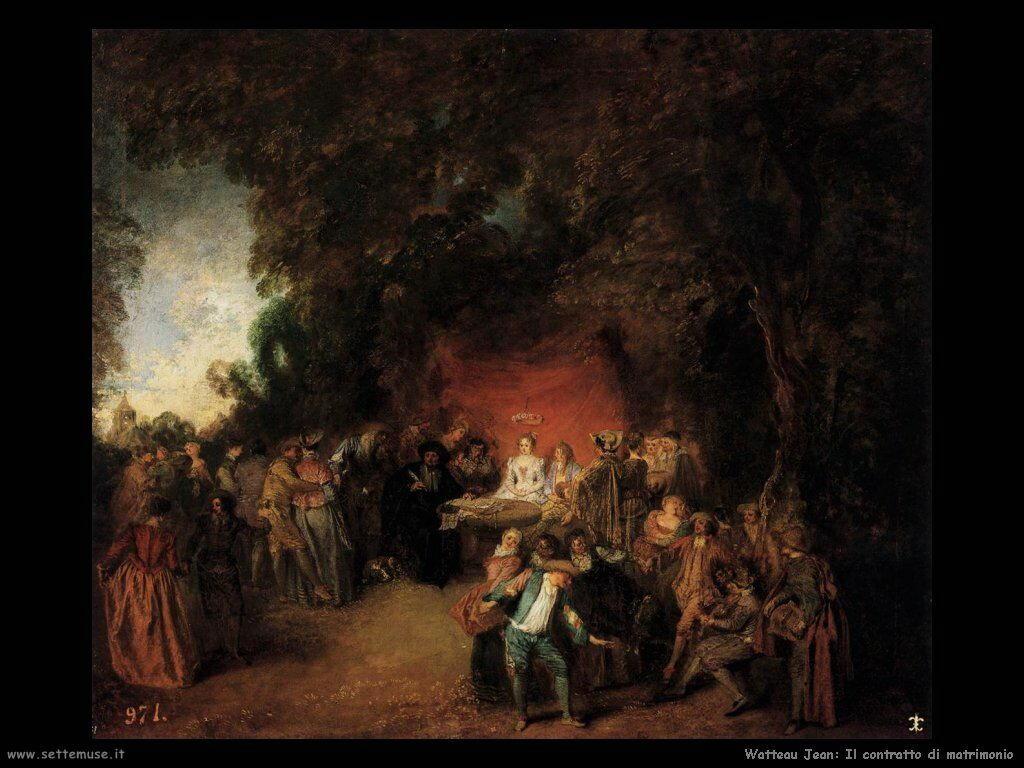 Il contratto di matrimonio Watteau Jean Antoine
