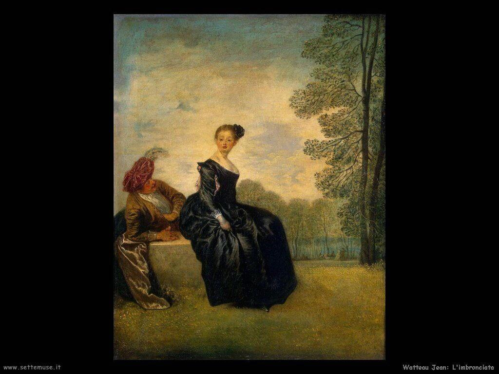 La scontrosa Watteau Jean Antoine
