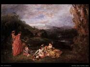Amore tranquillo Watteau Jean Antoine