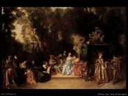 Festa all'aria aperta Watteau Jean Antoine